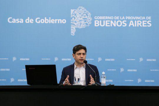 Kicillof brindó una nueva conferencia de prensa en la Gobernación.