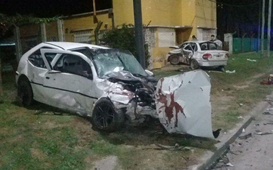 La Plata: murió un joven oriundo de Salto en un terrible choque entre dos autos