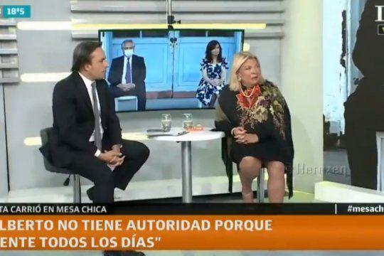 Carrió le diagnosticó locura a Cristina Kirchner