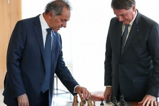 El embajador Daniel Scioli se reunió nuevamente con Jair Bolsonaro.