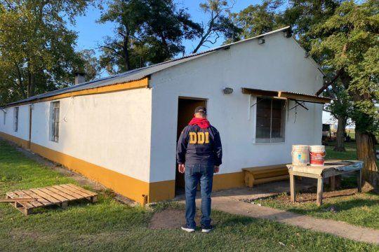 El presunto depravado cayó en el establecimiento rural La Azotea