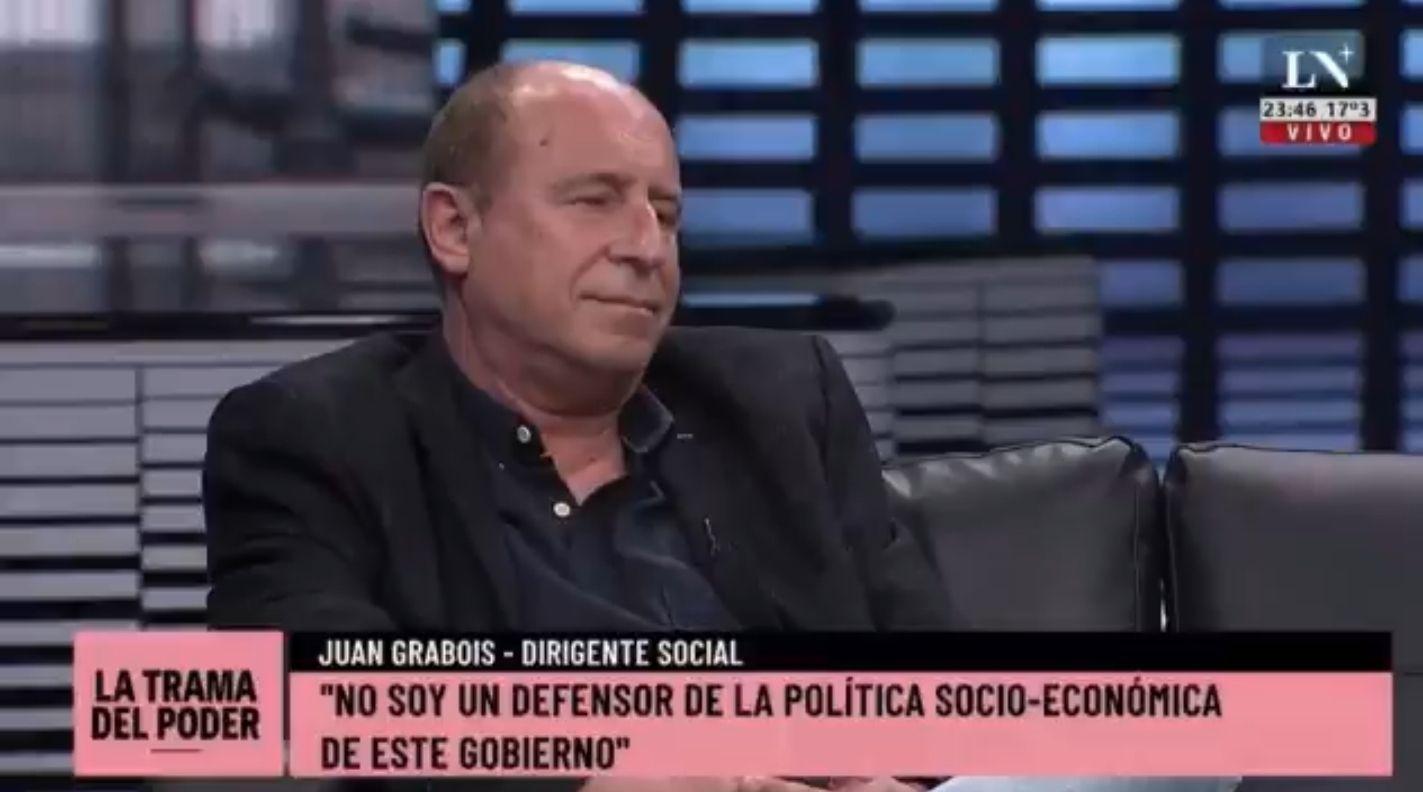 El Profe Ossona, invitado a LN+, como especialista en pobreza quien no supo responder ninguno de los interrogantes que le hiciera Juan Grabois