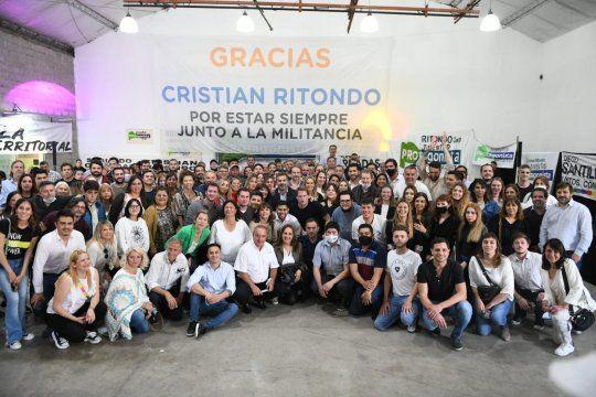Cristian Ritondo juntó a militantes y referentes del PRO en la provincia de Buenos Aires.