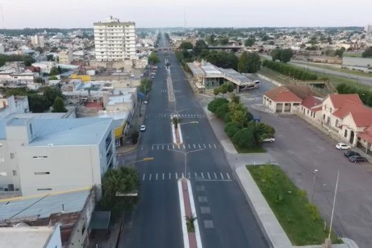 olavarria desde el aire: mira como luce la ciudad bonaerense en medio de la cuarentena obligatoria