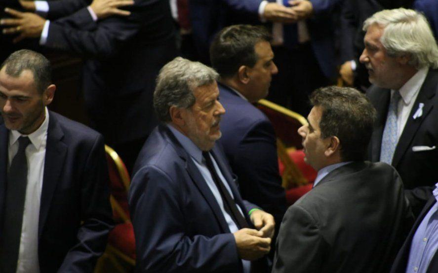Ministros Jorge Elustondo y Cristian Ritondo