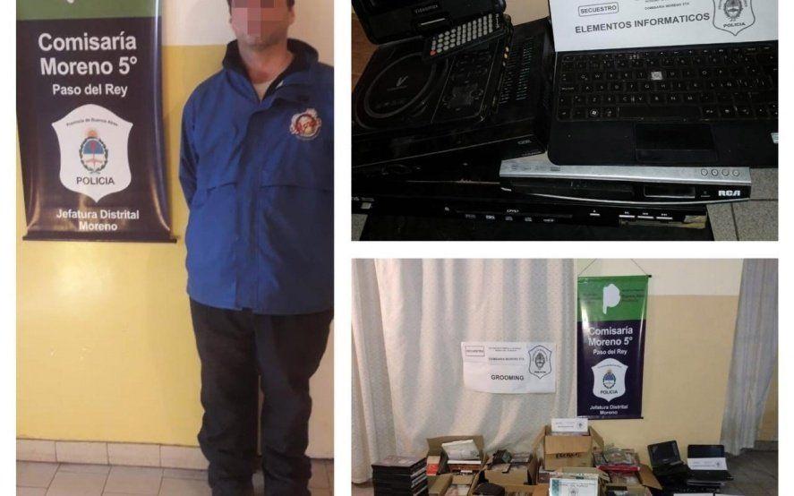 En Paso del Rey cayó un hombre de 33 años por intentar captar a una menor por internet
