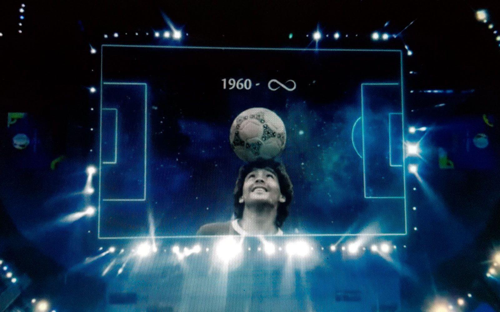 Maradona eterno: así fue parte del homenaje de la Conmebol.