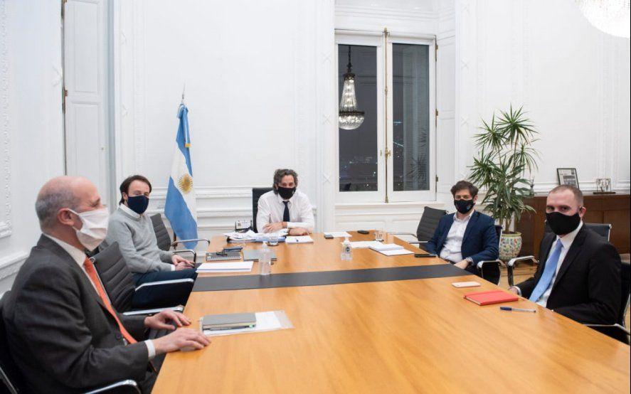 """Cafiero recibió a Kicillof para hablar de la """"recuperación productiva"""" de la Provincia"""