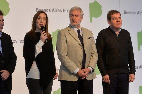 María Eugenia Vidal y Julio Conte Grand, el eje de una polémica que perdura en el Senado y en el Poder Judicial.