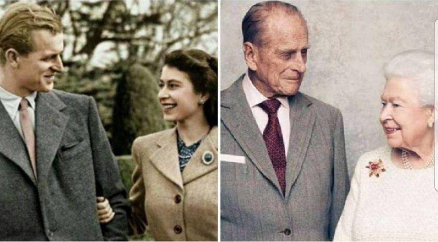 Dos épocas del extenso matrimonio entre Felipe de Edimburgo y la Reina Isabel II de Inglaterra.