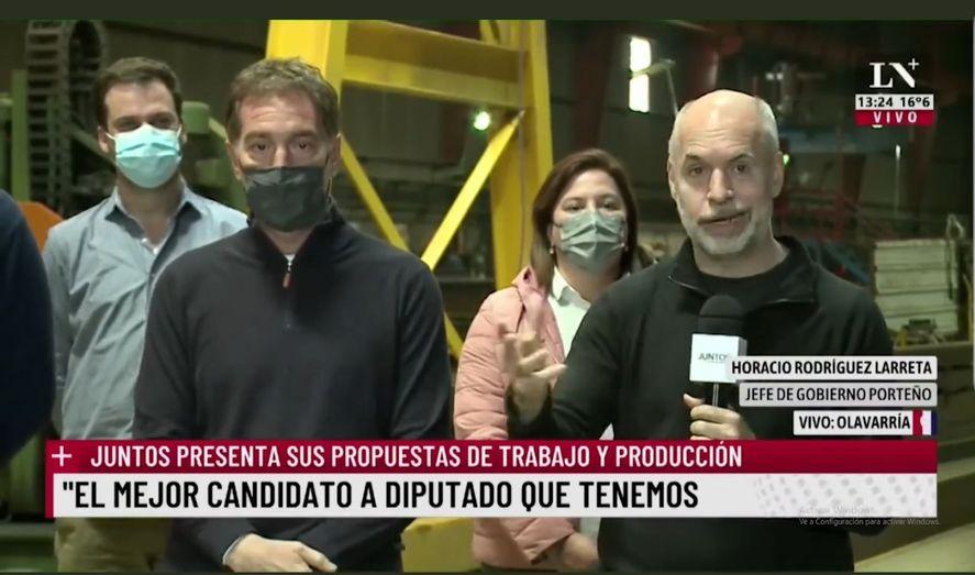 El lapsus de Larreta sobre Diego Santilli y su ser bonaerense