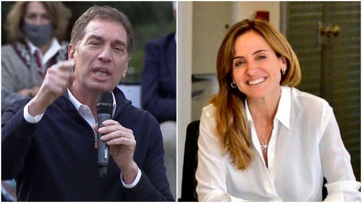 Diego Santilli y Victoria Tolosa Paz, los candidatos de Juntos y el Frente de Todos