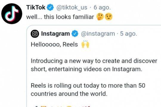 me suena familiar: tiktok se burlo de la nueva herramienta de instagram