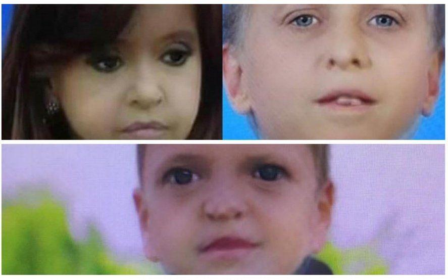 Cristina, Massa y Macri también tienen su foto con el filtro de bebé de Snapchat
