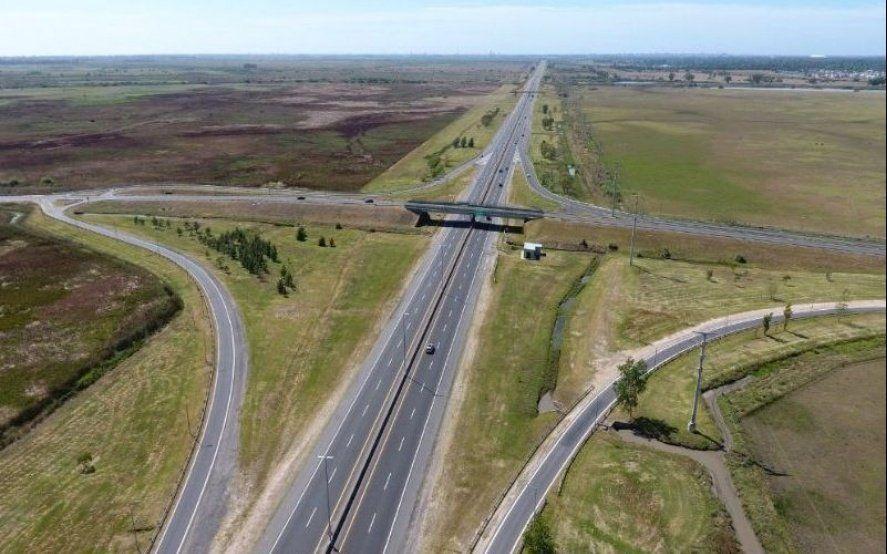 Terminadas las obras de pavimentación, reabrieron el tránsito en la bajada de la Autopista en Villa Elisa