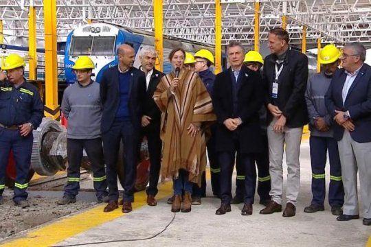 reactivacion de mechita: macri y vidal inauguraron la ampliacion de taller ferroviario