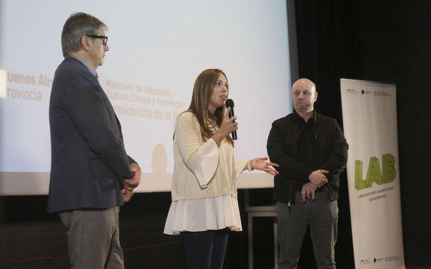 Vidal volvió a pisar Mar del Plata para presentar el Laboratorio Audiovisual Bonaerense