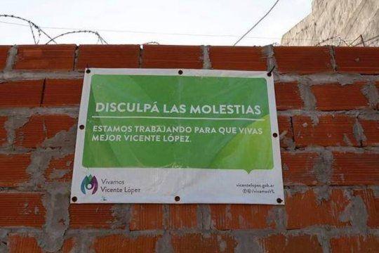 Jorge Macri había construido un muro en el acceso al barrio Gándara.