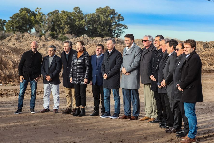 En plena campaña electoral de 2019, el expresidente Mauricio Macri y la exgobernadora María Eugenia Vidal,  anunciaban el avance de una obra que apenas se ejecutó un 2%