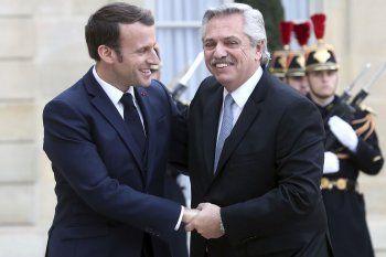 Alberto Fernández fue invitado por su francés, Macron