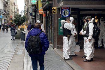 Gendarmería montó un operativo en el microcentro. Aunque se especuló que era contra los vendedores de dólares, fue desmentido por el Ministerio de Seguridad.