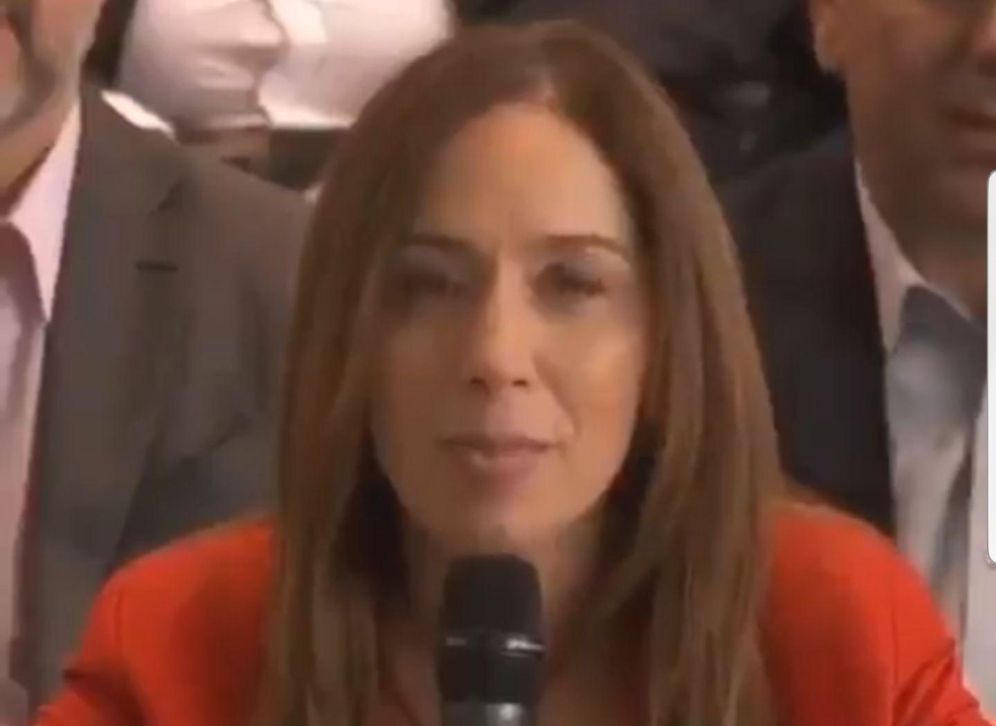 Ua captura del video de María Eugenia Vidal, que de ser cierta la información de Clarín sobre el acuerdo en CABA quizás nunca se viralice