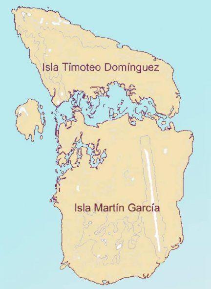 Hasta la década de 1980 el límite terrestre de frontera no existía entre Argentina y Uruguay, porque la isla Timoteo Domínguez aún no se había juntado con la isla Martín García por los sedimentos