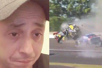 el dipy causo un impactante choque multiple en el top race y fue excluido
