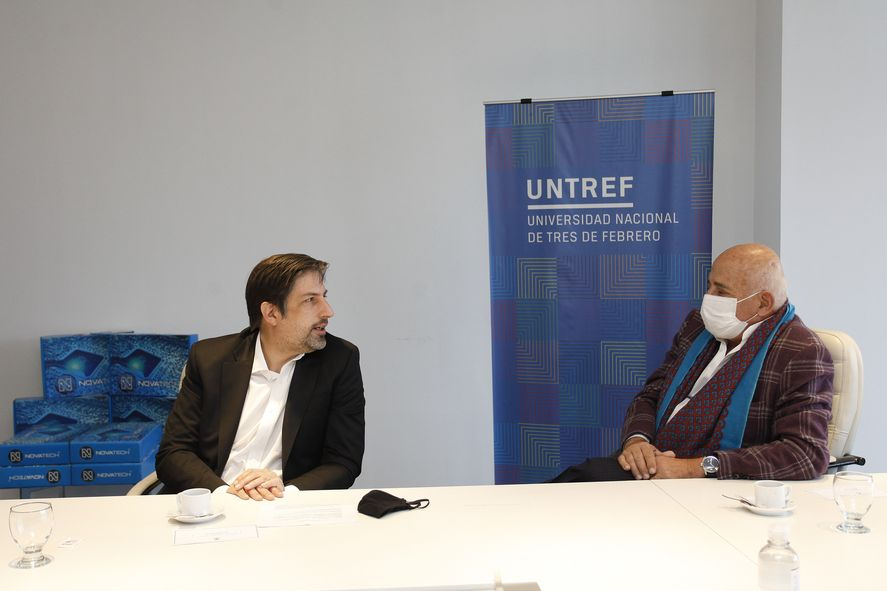 El ministro de educación Nicolás Trotta y el rector de la UNTREF
