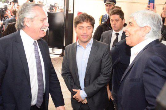 Alberto, Kicillof y los Moyano se encuentran en el Día del Camionero