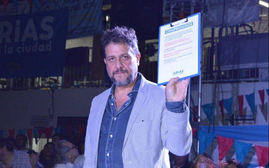 """Asambleas de inundados cuestionaron a Arias y lo tildaron de """"candidato funcional a la impunidad"""""""