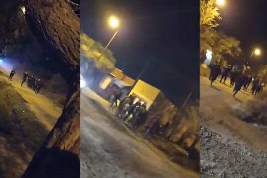 de fiesta en chivilcoy: rompieron la cuarentena y atacaron a la policia con palas, piedras y facas
