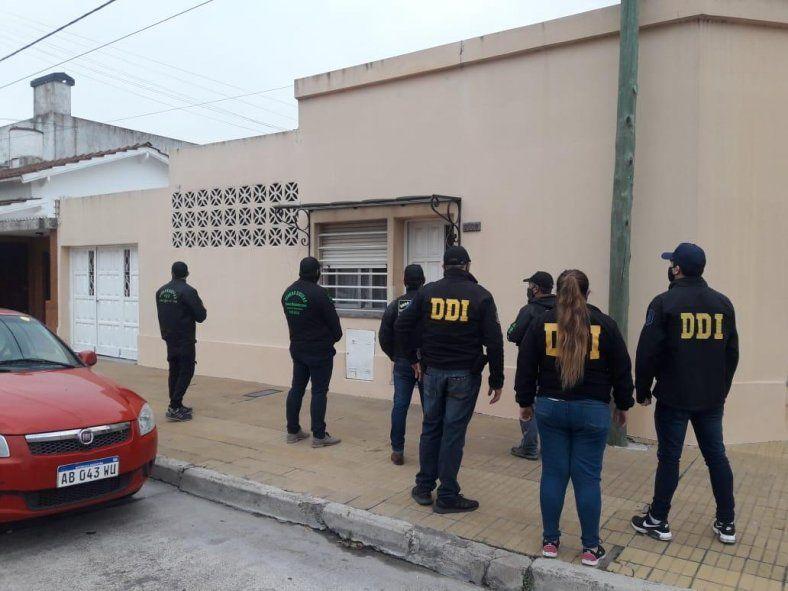 Los allanamientos fueron en el centro de Olavarría y en el Barrio Puerto Nuevo