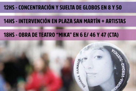 la plata: marchan en reclamo de justicia a dos anos de la desaparicion de johana ramallo