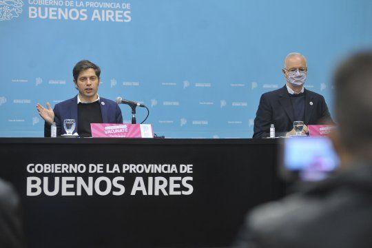 Axel Kicillof y Daniel Gollán explicaron el plan de la Provincia para el próximo 9 de Julio.