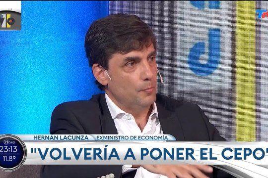El ex Ministro de Hacienda Hernán Lacunza dijo que volvería a poner el cepo al dólar, aunque se opone al que estableció Alberto