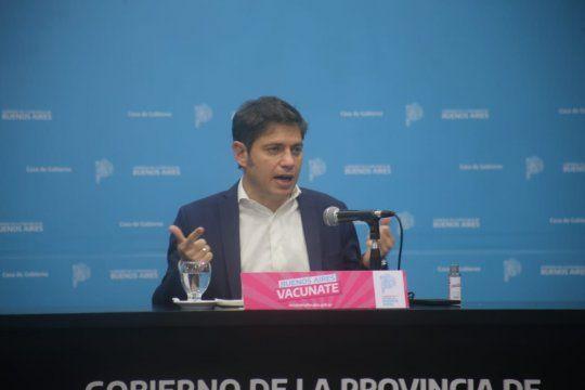 El gobernador Axel Kicillof realizó dos anuncios respecto a la campaña de vacunación en la provincia de Buenos Aires.