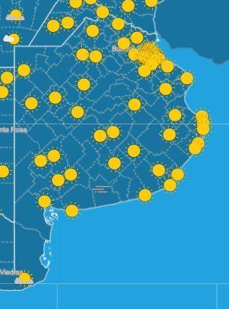 El SMN anunció una jornada a puro sol y buen tiempo en la Provincia.