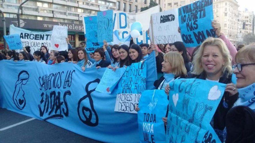 La marcha anti aborto también tuvo eco en la provincia