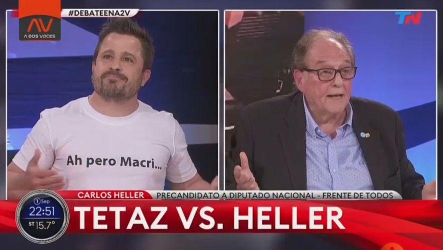 La remera de Ah pero Macri con la que Martín Tetaz quiso destacarse