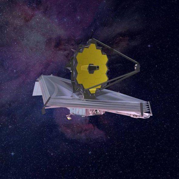 Ilustración del telescopio en órbita
