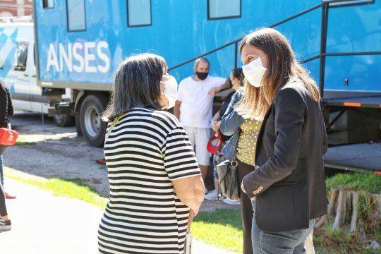Fernanda Raverta supervisó la atención de ANSES en Mar del Plata.