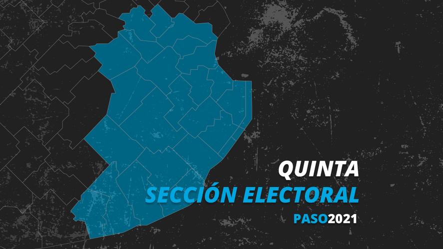 La quinta sección electoral de la provincia de Buenos Aires nuclea a los municipios del centro este. En las elecciones PASO ganó el Frente de Todos.