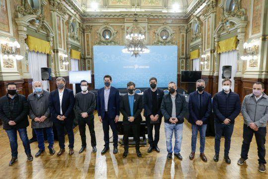 La Provincia rubricó los convenios con un acto en Casa de Gobierno.
