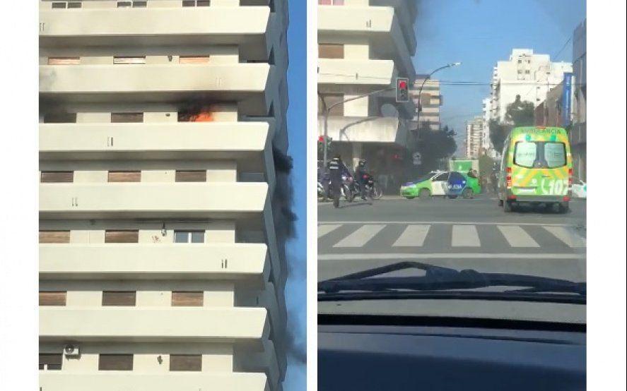 Video: pánico por incendio en un conocido edificio del centro de La Plata