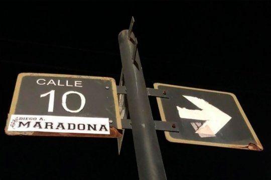 Calle 10 Diego Armando Maradona.