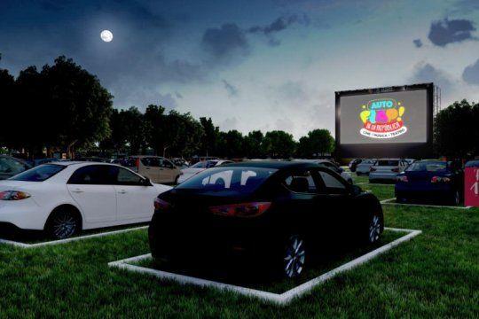 La primera actividad del Auto Flap será el cine móvil