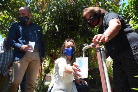 Tigre: Galmarini inauguró la red de agua potable para el barrio El Progreso
