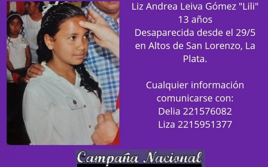 Buscan intensamente a Liz, una nena de 13 años desaparecida en La Plata